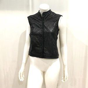Rag & Bone Womans Black leather Vest